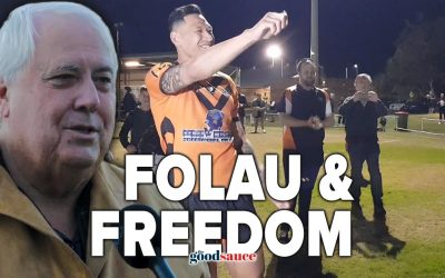 EXCLUSIVE: Billionaire Clive Palmer on Israel Folau's first game back, freedom and the Wuhan Flu