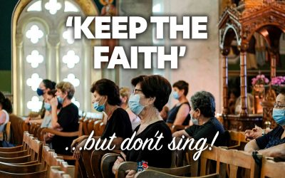 """""""Keep the faith"""" … but don't sing about it."""
