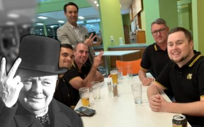 Is Dave Pellowe happy to be photographed with members of the Proud Boys?