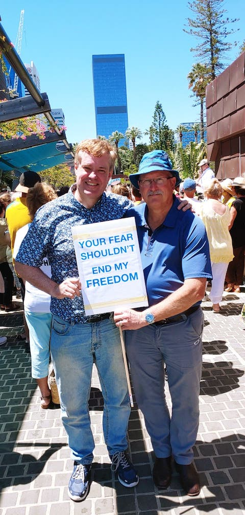 Augusto Zimmerman at the Freedom Rally, Perth WA